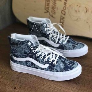 VANS SK8-HI MTE Floral Zip Blue Kid's AUTHENTIC